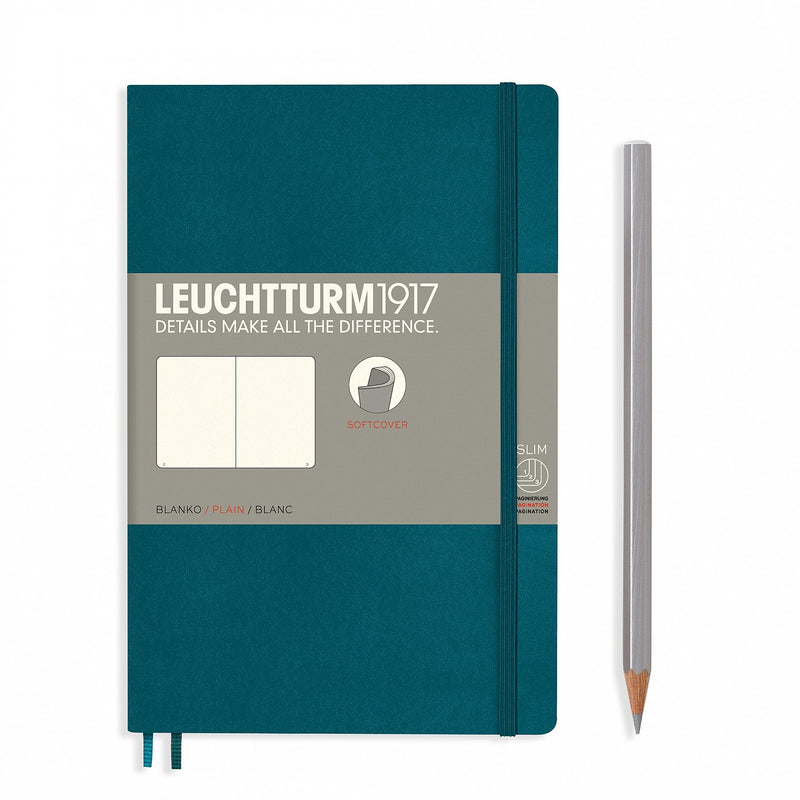 Leuchtturm1917 Notebook Paperback B6+ Softcover Pacific Green