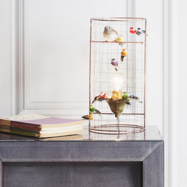 Mathieu Challieres Mini Birdcage Table Lamp