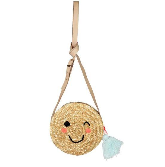 Meri Meri exclusive collection Emoji Raffia Bag