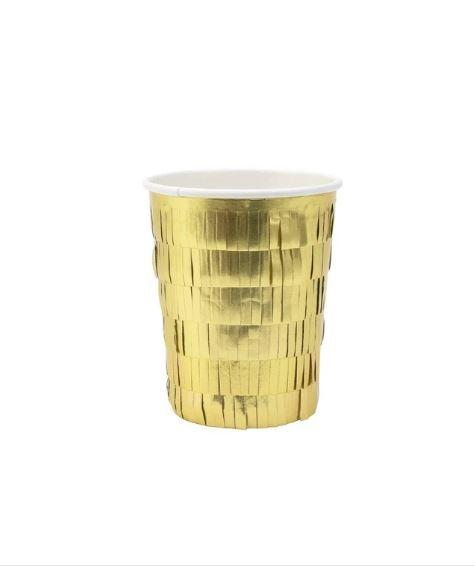 Meri Meri exclusive collection Gold Fringes Party Cups