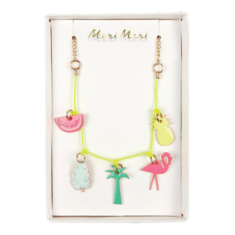 Meri Meri exclusive collection tropical enamel charm necklace
