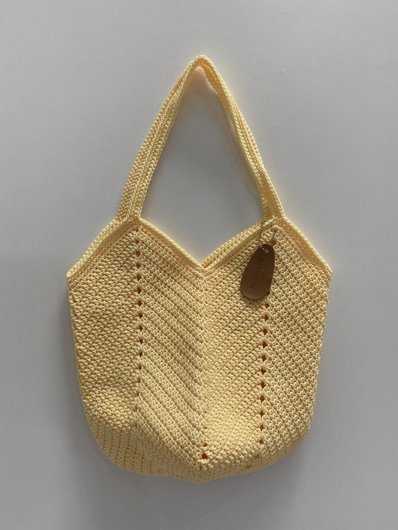 Merminty Middle Granny Bag -Pale yellow