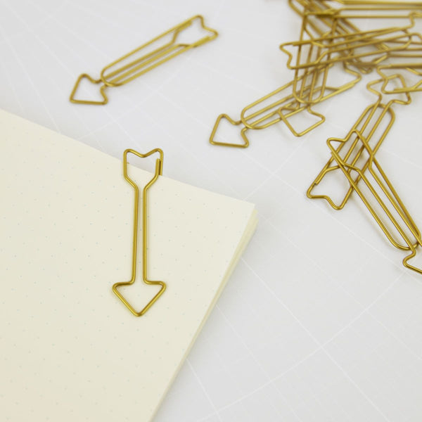 Monograph Clips Arrow Brass