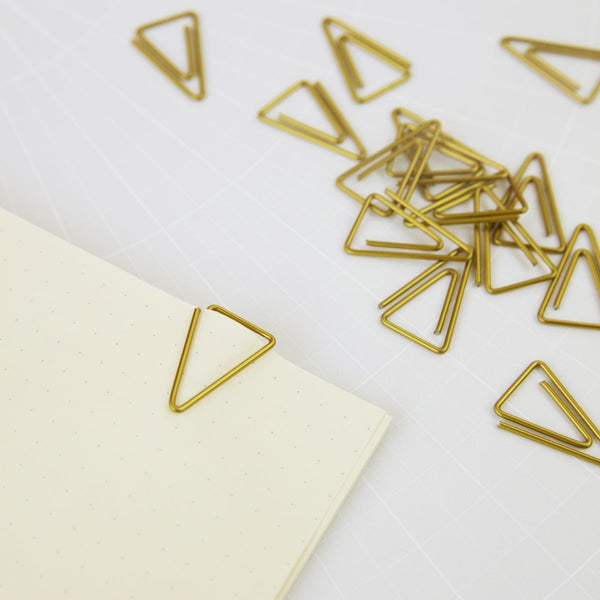 Monograph Clips Triangle Brass