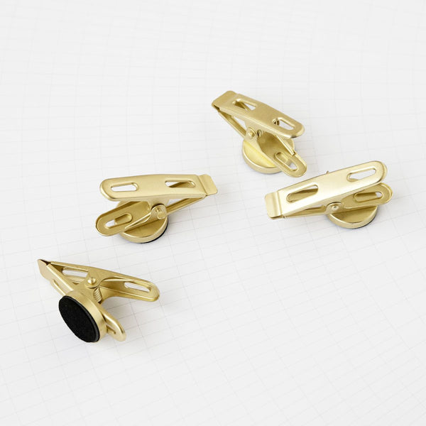 Monograph Set of Clips with Magnets Brass
