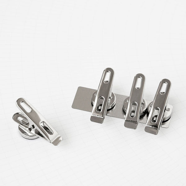Monograph Set of Clips with Magnets Silver