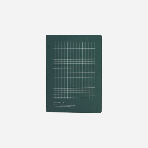 Monograph Geometric Notebook Dark Green 18x13 cm