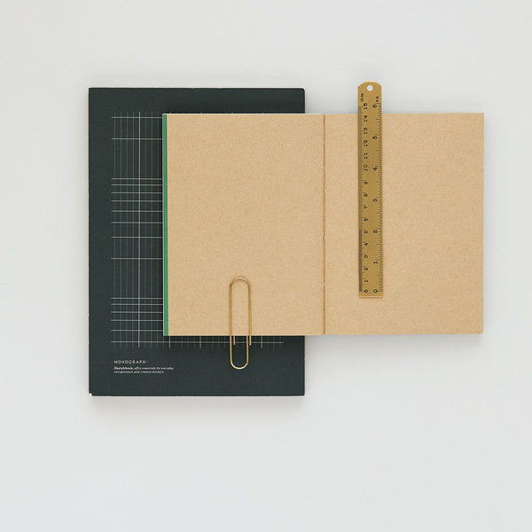 Monograph Geometric Notebook -Dark Green 25x18 cm