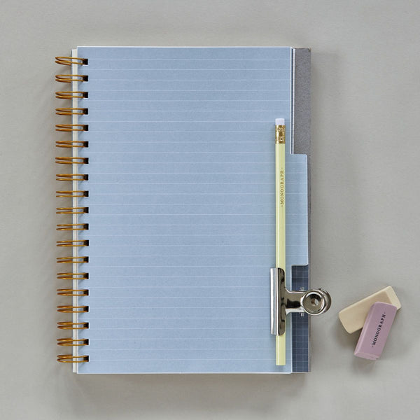 Monograph Notebook Grey 25x19.5 cm