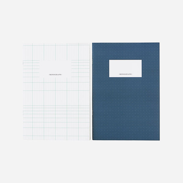 Monograph Set of Notebooks A5 Blue White