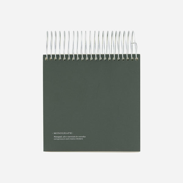 Monograph Notepad Dark Green 14x14