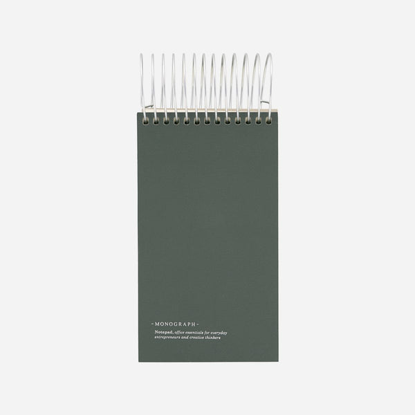 Monograph Notepad Dark Green 16x9