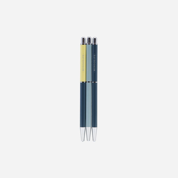Monograph Set of 3 Push Pencils