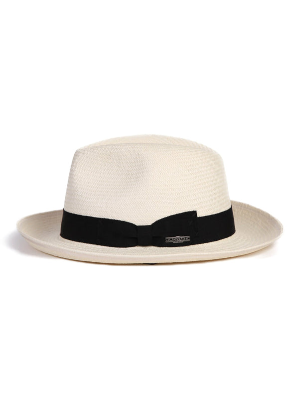 Mossant exclusive collection Melvin Panama Hat- White