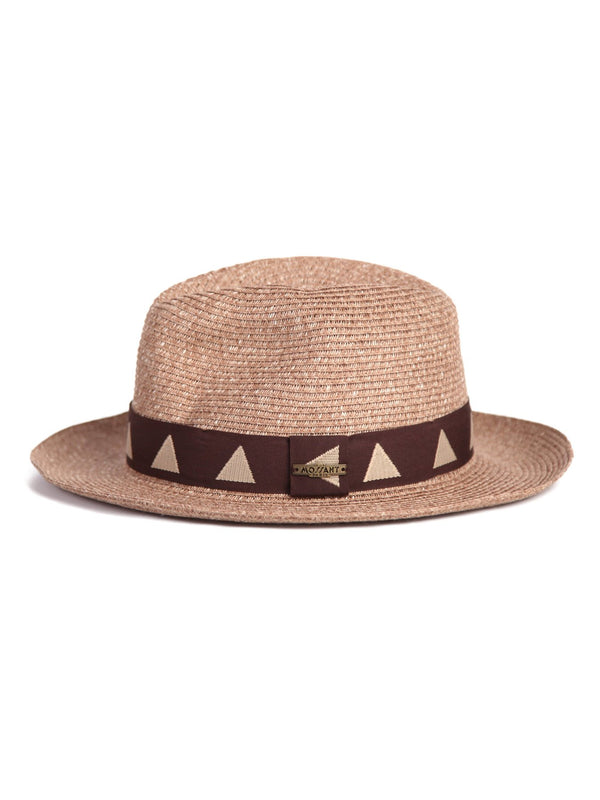 Mossant exclusive collection The Arrow Panama hat - Brown