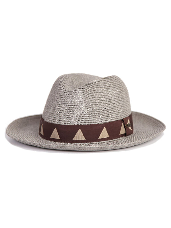 Mossant exclusive collection Paper straw hat - Grey M