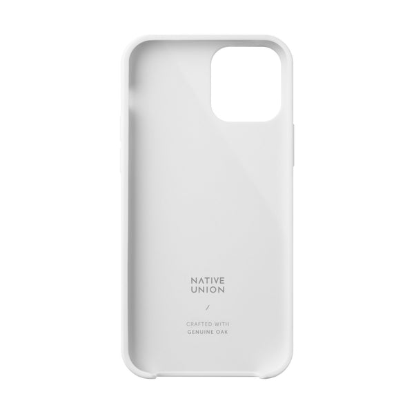 Native Union Clic Wooden iPhone Case White
