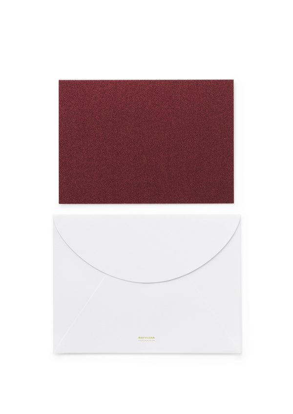 Normann Copenhagen Greeting Card Dark Red