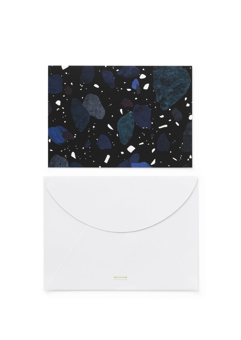 Normann Copenhagen Greeting Card Space Stone Dark