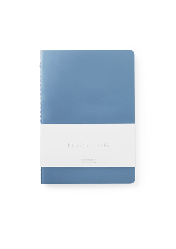 Normann Copenhagen Notebook Large 3 pcs Blue