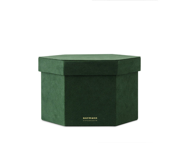Normann Copenhagen Velour Box Large - Dark green