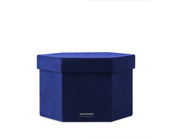 Normann Copenhagen Velour Box Large - Ink blue