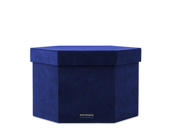 Normann Copenhagen Velour Box X-large - Ink blue