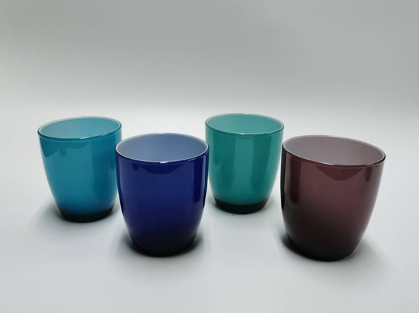 OFFICINE MURANO Set of 4 opal colour glass