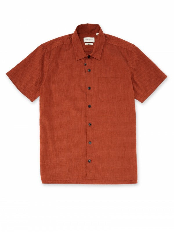 Hawaiian Short Sleeve Shirt - Rust