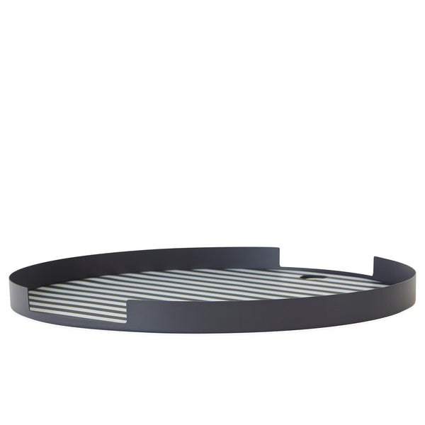 OYOY Oka Tray - Anthracite and white