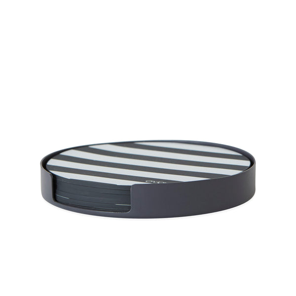 OYOY Set of 6 Coaster - Anthracite and white
