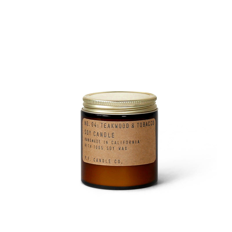 P.F Candle Co Soy Candle - Teakwood & Tobacco 3.5oz