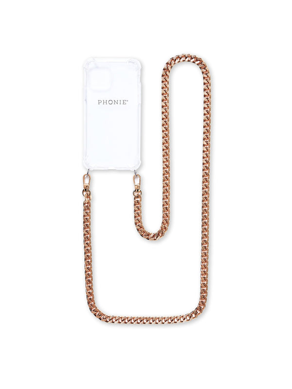 Phonie iPhone 11 PRO MAX Transparent Case with Chantalle Gold Chain S