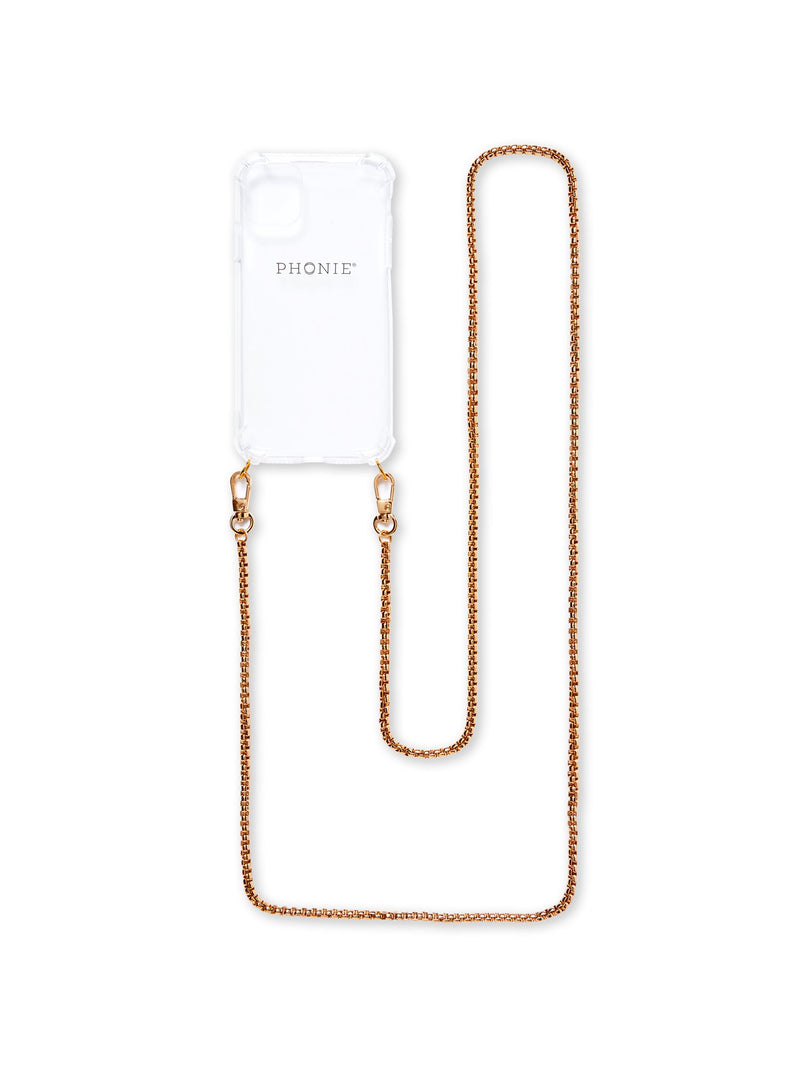 Phonie iPhone 11 PRO Transparent Case with Clio Gold Chain S