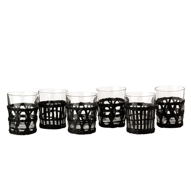 Pols Potten  Set of 6 Tumblers and Reed Holders - Black