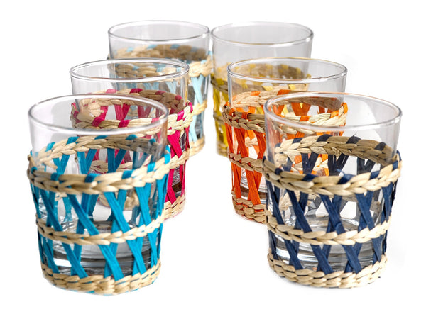 Pols Potten  Set of 6 Tumblers and Reed Holders - Multi-color