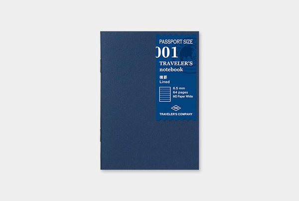 Refill 001 Lined MD Notebook Passport Size