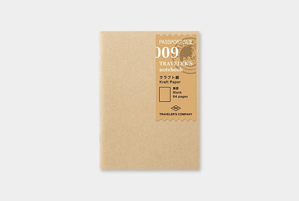 Refill 009 Kraft Paper Notebook Passport Size
