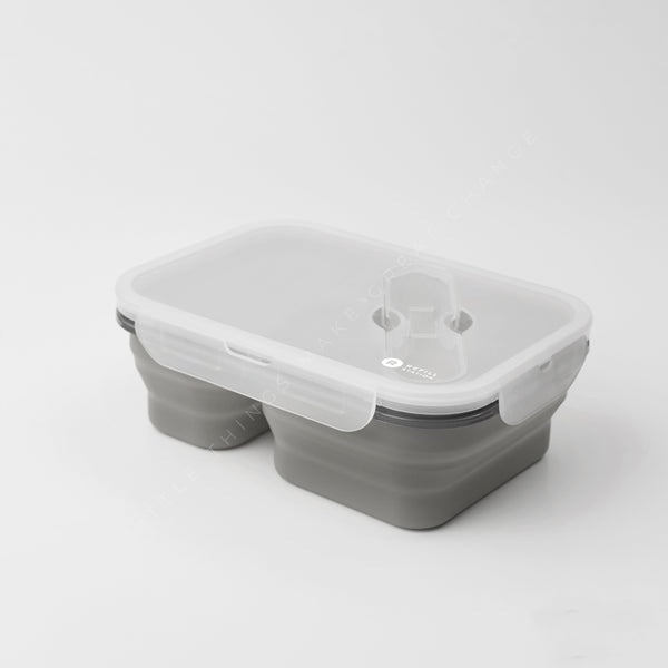 Refill Station Silicone lunch box - 2 section