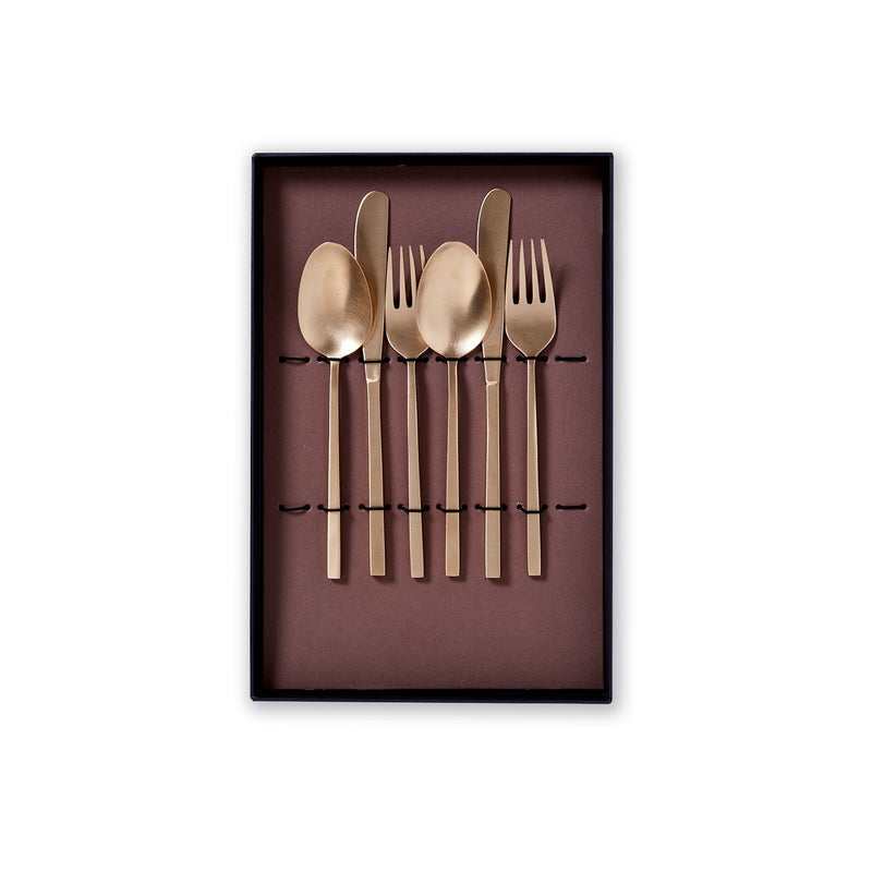 Siam Bronze Exclusive AS Set BOXY : 2 forks, 2 knifes, 2 spoons