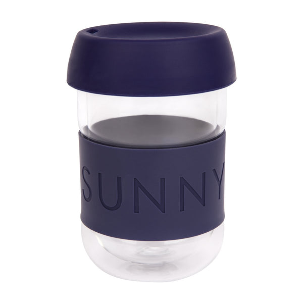 SUNNYLIFE exclusive collection eco coffee cup navy blue