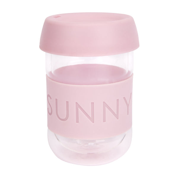 SUNNYLIFE exclusive collection eco coffee cup pink