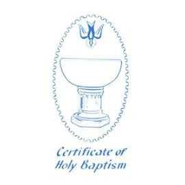 1979 White Baptism Certificate