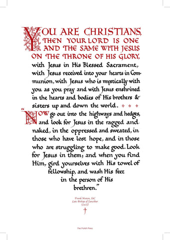 You Are Christians print by Frank Weston  (Print for the Narthex)