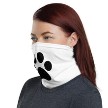 Load image into Gallery viewer, Dog Paw Print Neck Gaiter, Neck Warmer, Headband, Tube Scarf, Washable Face Covering