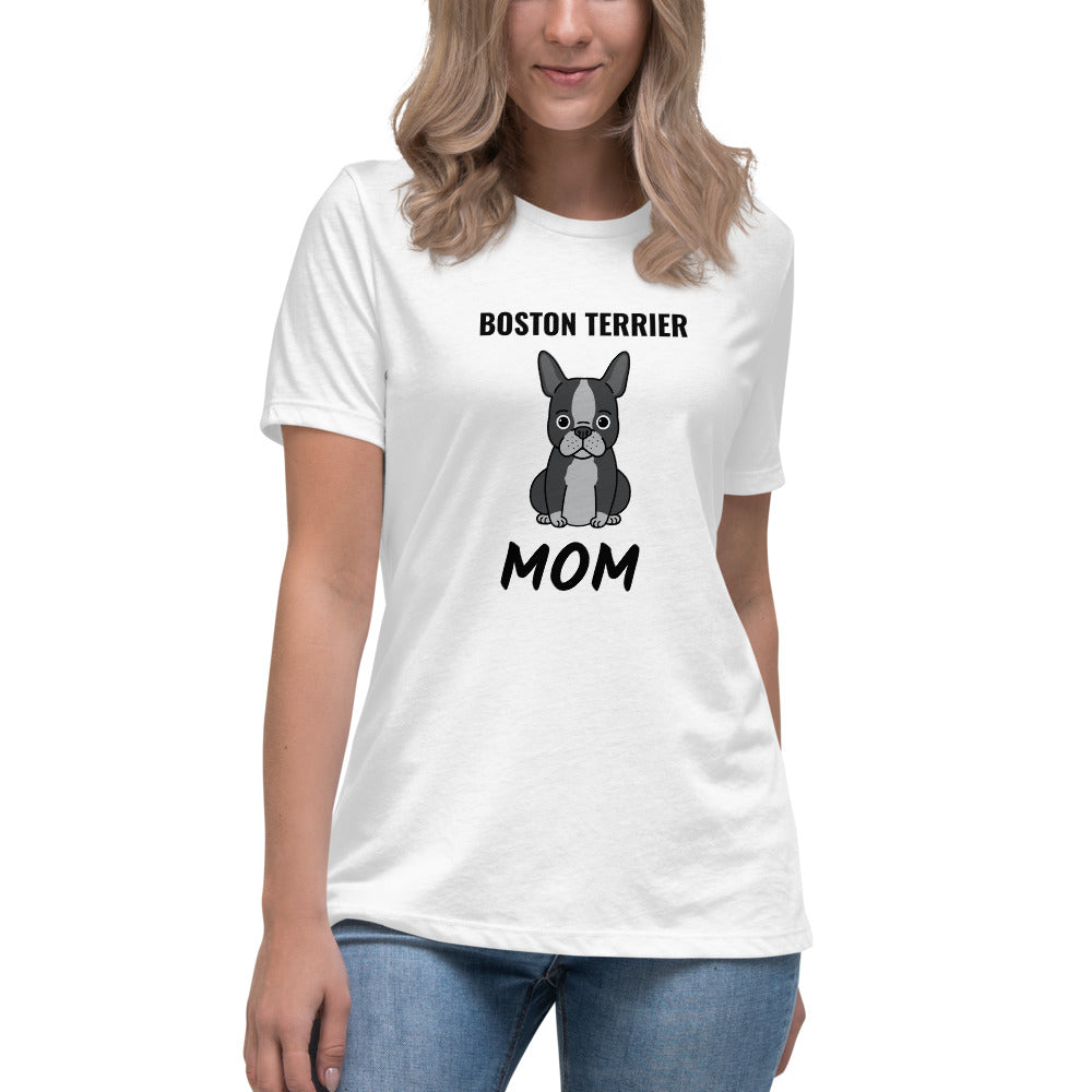 Boston Terrier Mom Premium Women's Relaxed T-Shirt