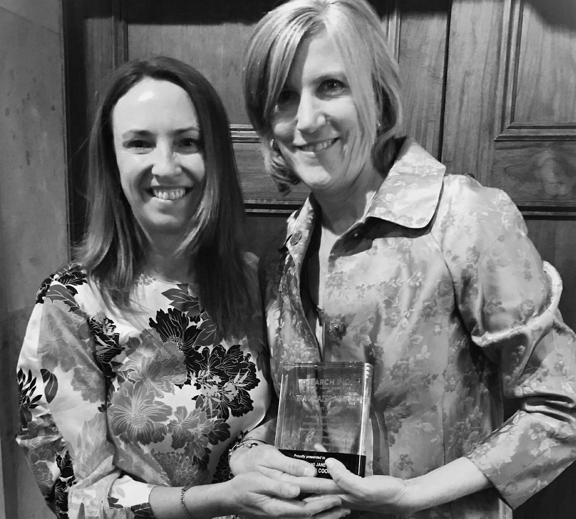 2017: Jane & Meg win the Trailblazer award from Search Inc.
