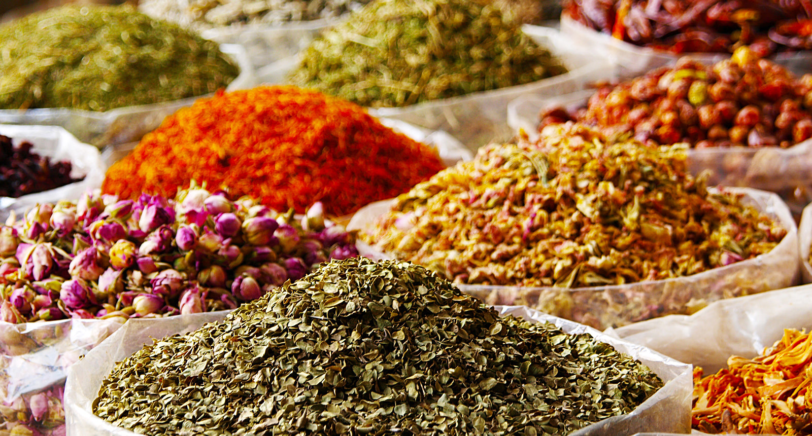 assorted raw spices