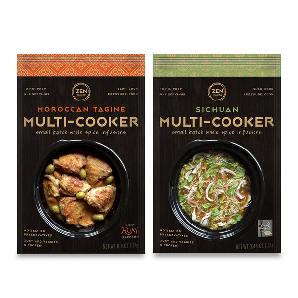 Zen of Slow Cooking, Sichuan and Moroccan Tagine, Multi-Cooker Whole Spice Infusion Packages