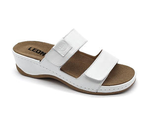 LEON 2020 Leather Sandal Clogs for Women - White